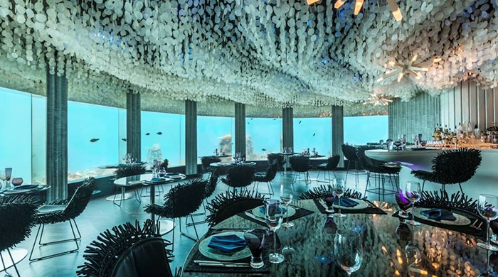 Taking the plunge: underwater dining in the Maldives