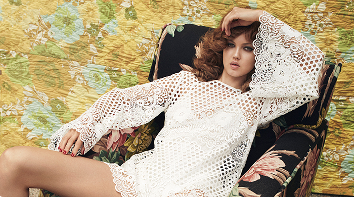 Inside Alice McCall's dreamy shoot with Lindsey Wixson