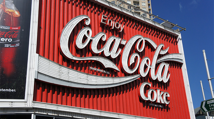 The iconic Kings Cross Coke sign is being dismantled