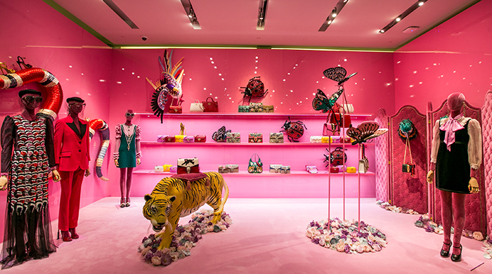Who went to the Gucci Garden event at Westfield Sydney?