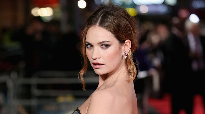 Lily James is the new face of Burberry