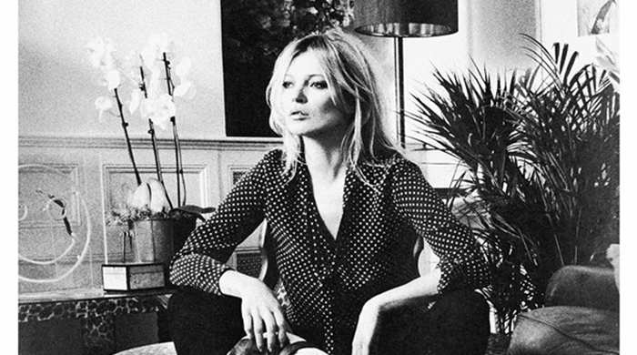 Kate Moss gathers her coolest friends to toast her Equipment collection