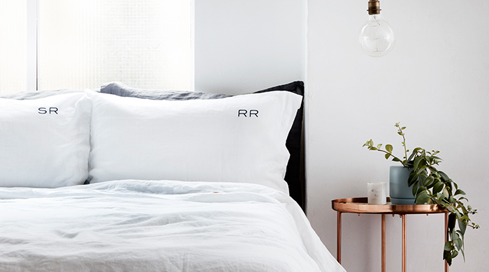 Get some R&R: monogrammed bed linen to fall in love with