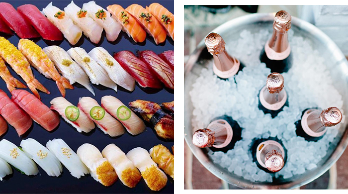 Sashimi and champagne! A one-off luxury feast in Sydney