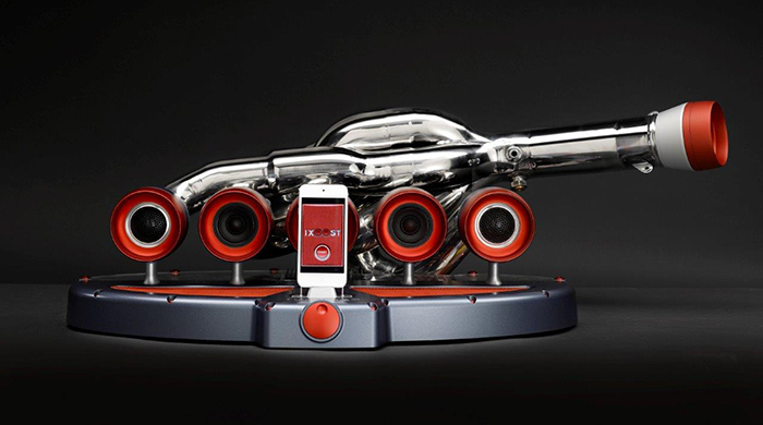 The ultimate luxury: iPod docks made out of Formula One car parts