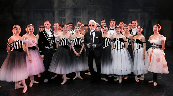 Karl Lagerfeld has designed breathtaking costumes for the Paris Opera Ballet