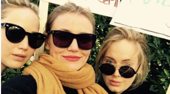 Celebrities turn out in full force for the #WomensMarch2018
