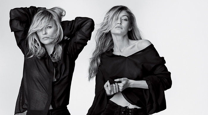 Kate, Gigi and Jordan Barrett are in a new campaign together and it's major