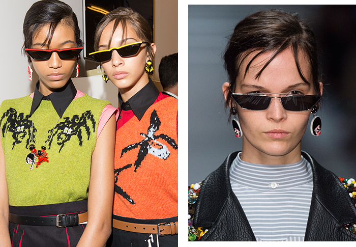 The look of 2018? Teeny, tiny sunglasses