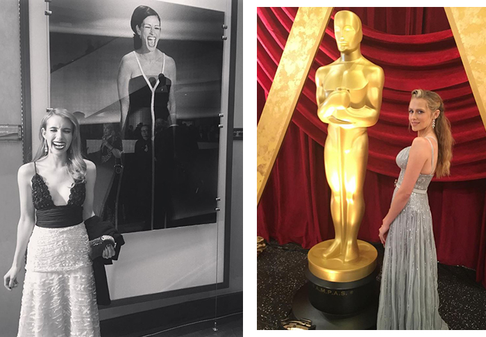 Behind the scenes: our fave celebs at the Oscars