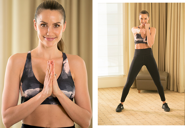 Rachael Finch's 15-minute hotel workout